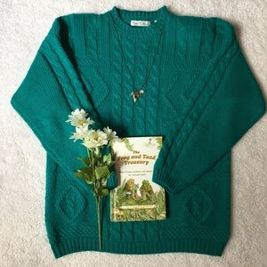 💙💚Vintage WOODS & GRAY chunky pullover sweater💚